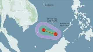 (VTC14)_Áp thấp nhiệt đới xuất hiện trên biển Đông