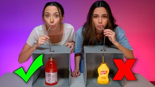 DON'T CHOOSE THE WRONG MYSTERY DRINK CHALLENGE! - Merrell Twins