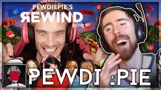 Asmongold Reacts to YouTube Rewind 2018 but it's actually good by PewDiePie
