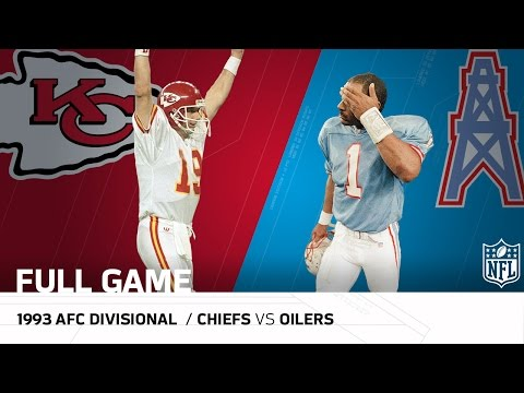 1993 AFC Divisional: Montana Upsets the Oilers   Chiefs vs. Oilers   NFL Full Game