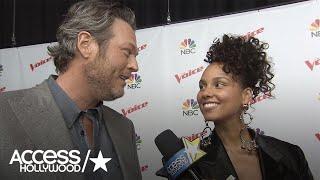 'The Voice': Blake Shelton & Alicia Keys Hilariously Joke About Adam Levine's Blond Hair