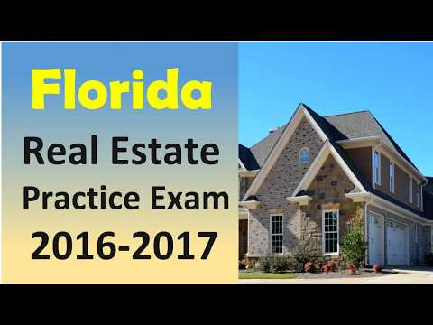 Florida Real Estate Practice Exam in 2016 -2017 with 50 questions and anwers