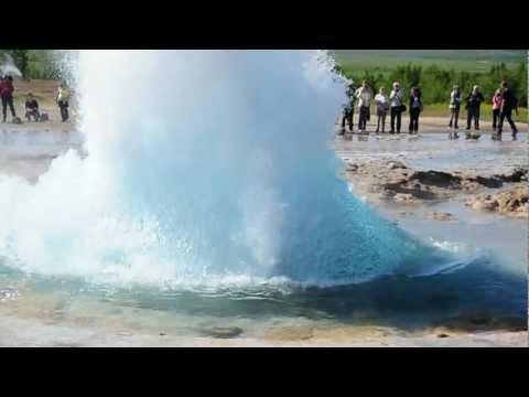 Strokkur geyser. Iceland: July 2012. video 2