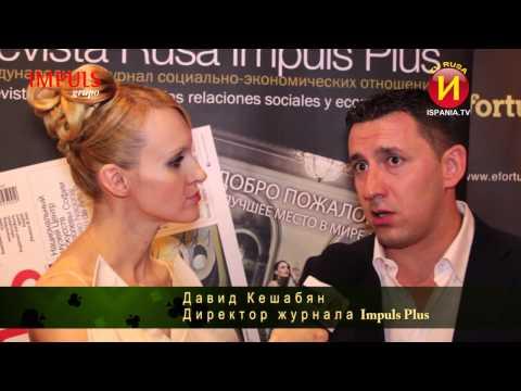 Presentación Revista Rusa Impuls PLUS N. 8, Casino Mediterraneo Alicante, Ispania TV