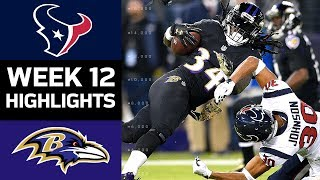 Texans vs. Ravens | NFL Week 12 Game Highlights