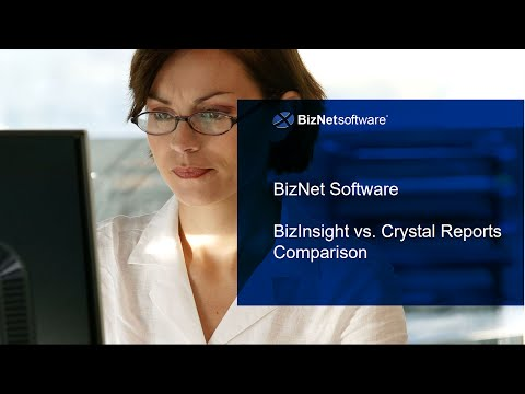 BizNet Software v Crystal Reports Comparison