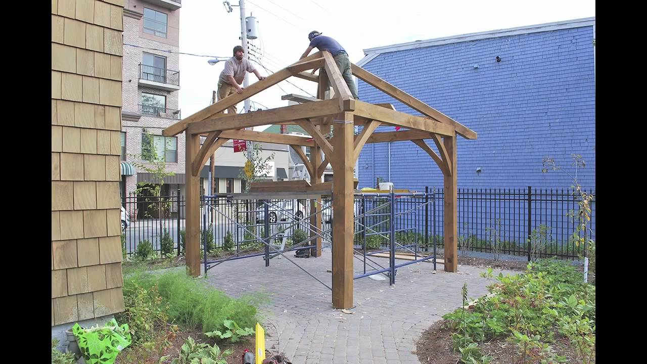 Gillis Amp Company Timber Frames A Timber Frame Gazebo For