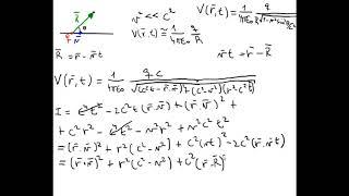 544 Electromagnetismo - Potenciales y campos - Potenciales L-W velocidad cte. potencial reducido