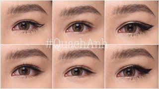 [ ENGsub ] 7 Kiểu Kẻ Mắt Bạn Nên Thử !!! 7 Must Try Eyeliner Styles