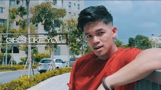 Girls Like You - Maroon 5 | Trong Hieu (Sing & Dance Cover on the streets)
