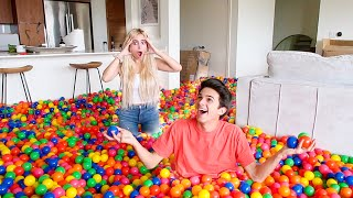 FILLING MY FRIEND'S HOUSE WITH PLAY BALLS!! **Freakout