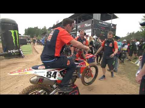 Herlings crash MXGP Race 1 sighting lap - MXGP of Latvia 2019