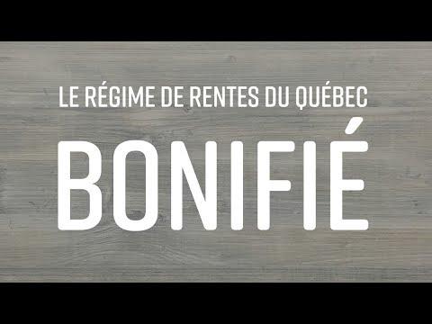La bonification du Régime de rentes du Québec