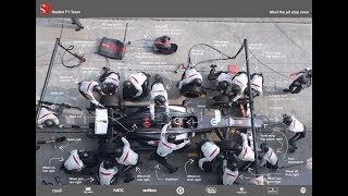Changing F1 Tire Comparing Pitstops Across Motorsports F1 MOTOR賽場上快速換胎