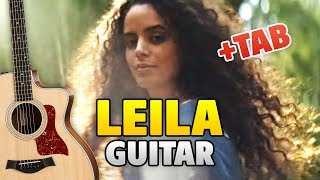 Jah Khalib - Leila (Fingerstyle Guitar Cover with Tabs, Chords, Lyrics)
