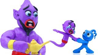 TINY MEETS SUPERHERO BABY GENIE || CLAY MIXER Stop Motion Cartoons