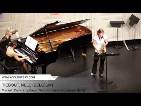 Dinant 2014 - TIEBOUT, NELE (Concierto Capriccio by Gregori Markovich Kalinkovich - Version DINANT)