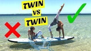 Yoga Challenge on a paddle board   Twin Vs Twin