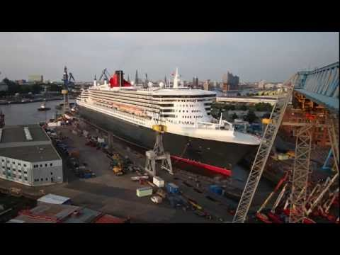 Queen Mary 2 Remastered: Arrival Timelapse