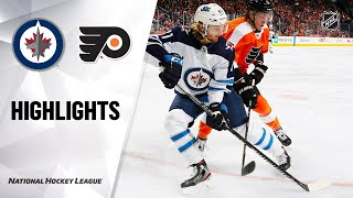 NHL Highlights | Jets @ Flyers 02/22/20