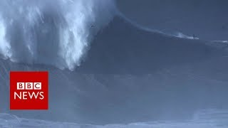 Brazilian surfer Rodrigo Koxa breaks wave world record - BBC News