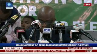 Collation Of Results For Osun Governorship Supplementary Election Pt.3