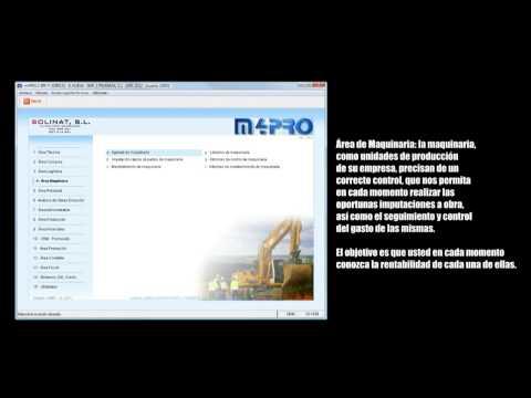 m4PRO ERP. Áreas del programa. (Software gestión construcción, instaladora y afines)