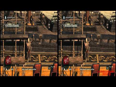 YT3D - Assassins Creed IV 3D: Black Flag Very High Settings S7M2 Walkthrough Live Stream Part 13