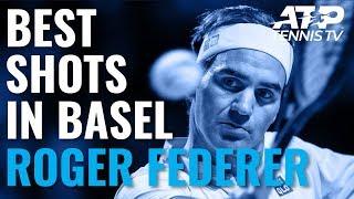 Best Roger Federer Shots In Basel!