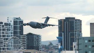 RAAF C-17 Globemaster + Roulettes   Brisbane Riverfire 2018 Flying Displays