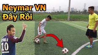 Thử Thách Bóng Đá với Neymar nhí Việt Nam kỹ thuật sút bóng và skills khiến Đỗ Kim Phúc bất ngờ