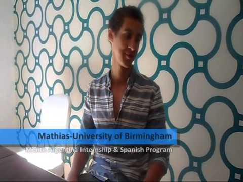 Matthias, student from University of Birmingham - UK, participated in the Mente Argentina Internship and Spanish Program 2013