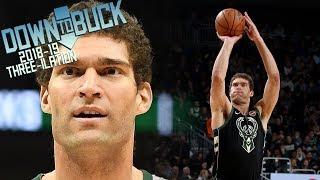 Brook Lopez All 187 Three-Pointers Full Highlights (2018-19 Season Three-ilation Part II)