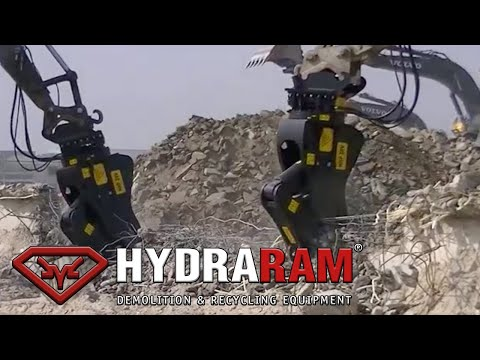 Hydraram Pulverizer mounted on Volvo Excavator