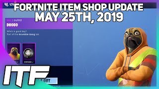 Fortnite Item Shop *NEW* DOGGO SKIN SET! [May 25th, 2019] (Fortnite Battle Royale)