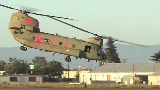 Boeing CH 47 Chinook with Fire Colors at KHWD