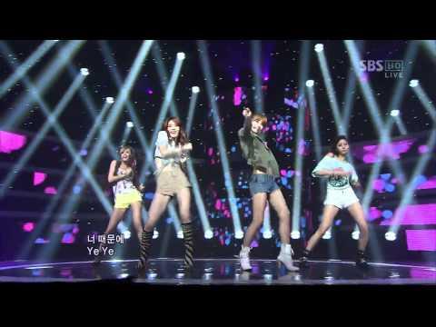 [SBS] 인기가요 A.S RED : 밤하늘에 (inkigayo 110731)