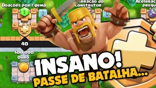 INSANO! NOVO PASSE DE BATALHA DO CLASH OF CLANS!