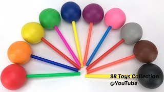 Play Doh Lollipops with Fruits & Vegetables Cookie Molds