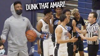 BRONNY JAMES HYPES UP AMARI BAILEY After NASTY DUNK For Sierra Canyon!