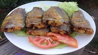 How To Prepare Fried Salted Gourami  - Ca Sac Muoi Man Chien Gion