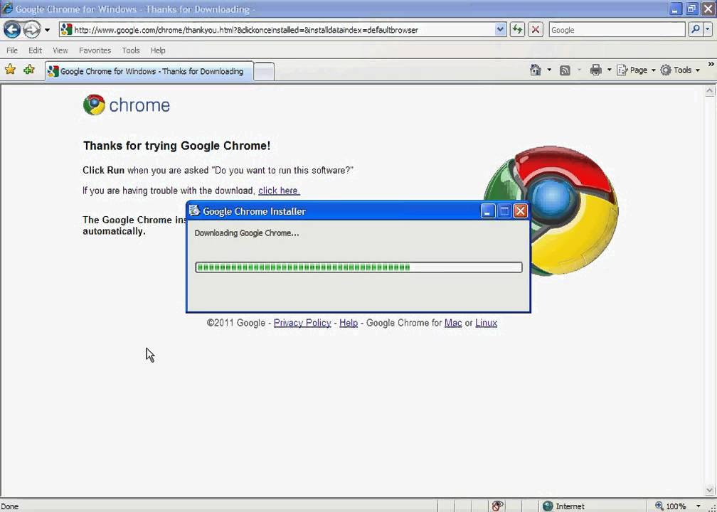 Installing Google Chrome on Windows XP.avi - YouTube