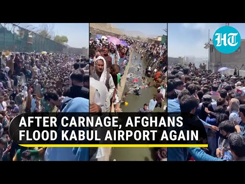 Day after ISIS-K terror, Afghans throng Kabul airport again