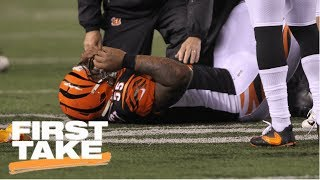 First Take reacts to JuJu Smith-Schuster's hit on Vontaze Burfict during MNF | First Take | ESPN