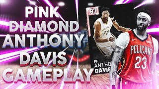 PINK DIAMOND ANTHONY DAVIS 65 POINT GAMEPLAY! THE MOST UNSTOPPABLE CARD EVER! NBA 2K19
