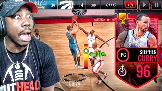 96 OVERALL CURRY SHOOTING DEEP CONTESTED 3 POINTERS! NBA Live Mobile 16 Gameplay Ep. 99