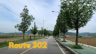 Driving on Scenic Roads in South Korea - Route 302 [302번 지방도 드라이브]