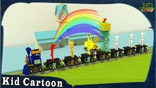 Kid Cartoon for Color Learning | Rainbow Colour Toy Train for Children