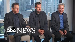 Adam Sandler developed a 'brotherly feeling' working with Ben Stiller and Dustin Hoffman