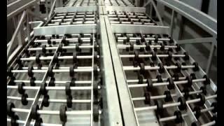 Линия. Производство комплектами. В конце показана сборка произведенного шкафчика.